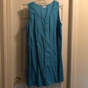 Linen plus size sleeveless dress